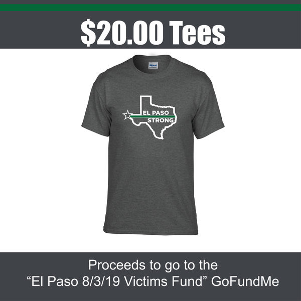 El Paso Strong Thin Green Line Tees