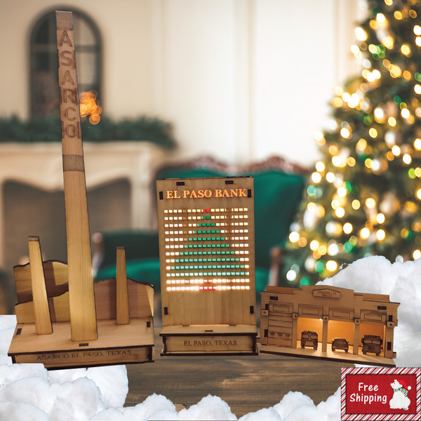 2019 El Paso Christmas Village Downtown Bundle