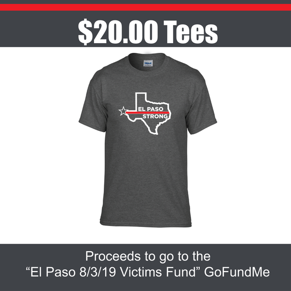El Paso Strong Thin Red Line Tees