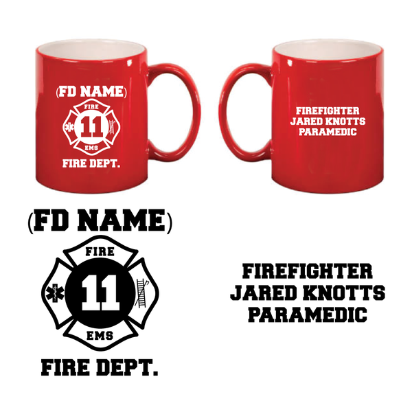 Fire Dept. 11 oz Mugs
