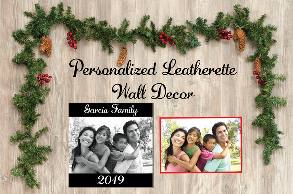 Personalized Leatherette Engraved Photo