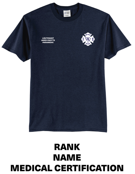 Personalize Fire Department Uniform Tees