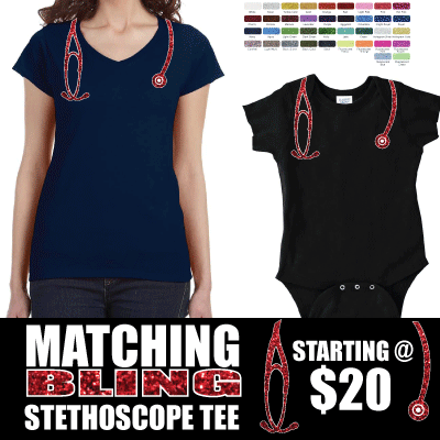 BLING! Baby Stethoscope Matching Tee