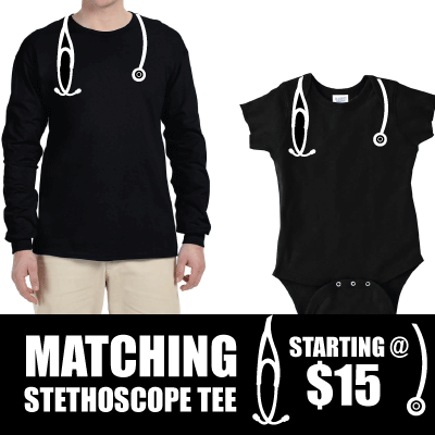 Adult Stethoscope Matching Tee!