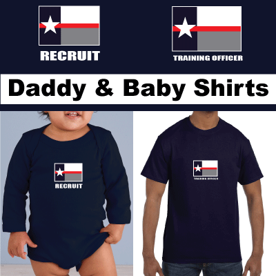 Texas Firefighter Recruit Baby Tee! Match with Dad Training Officer Tee