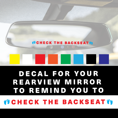 CHECK THE BACKSEAT! Decal