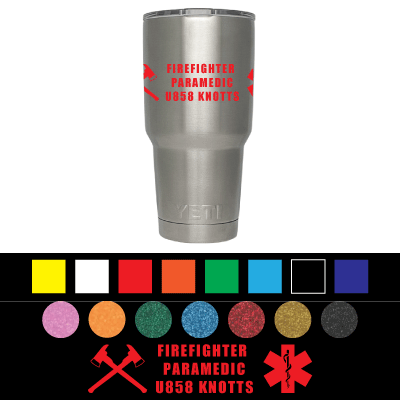 Customize your Firefighter/Police stainless steel mug