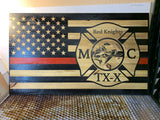 Custom Engraved Wood Flags