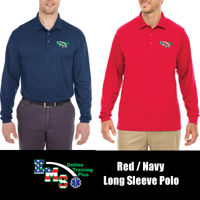 EMS Online Training Plus Long Sleeve Cadre Polo