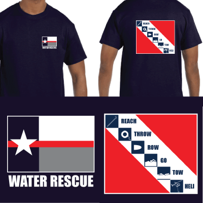 Texas Firefighter Water Rescue Tee
