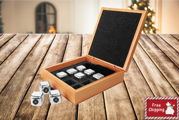 Personalized Whiskey Stone Set