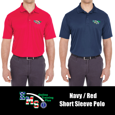 EMS Online Training Plus Short Sleeve Student Polo Bobby Beene