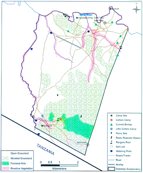 Olderkesi Conservancy Map