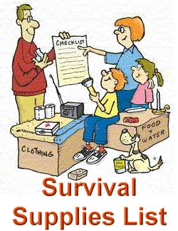 Survival Supplies List