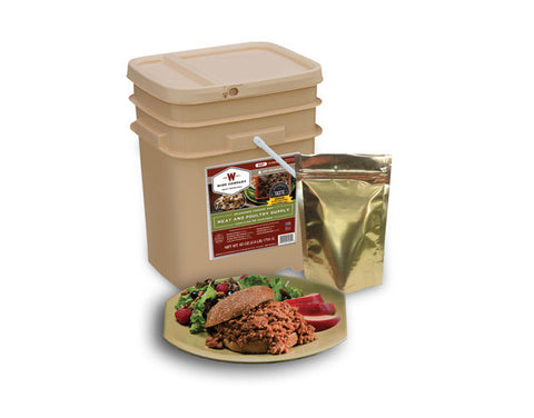 60 Serving Meat Bucket - Family Survival Supply