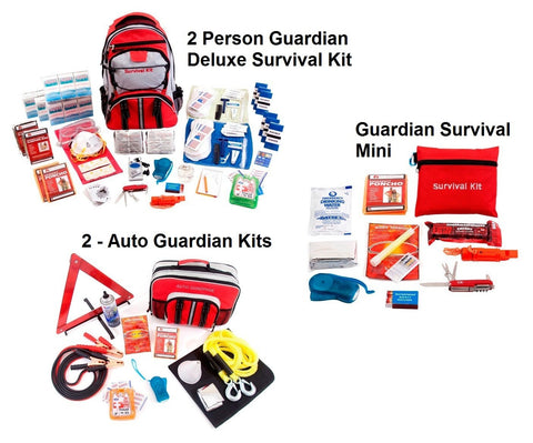 2 Person Guardian Preparedness Package - Family Survival Supply