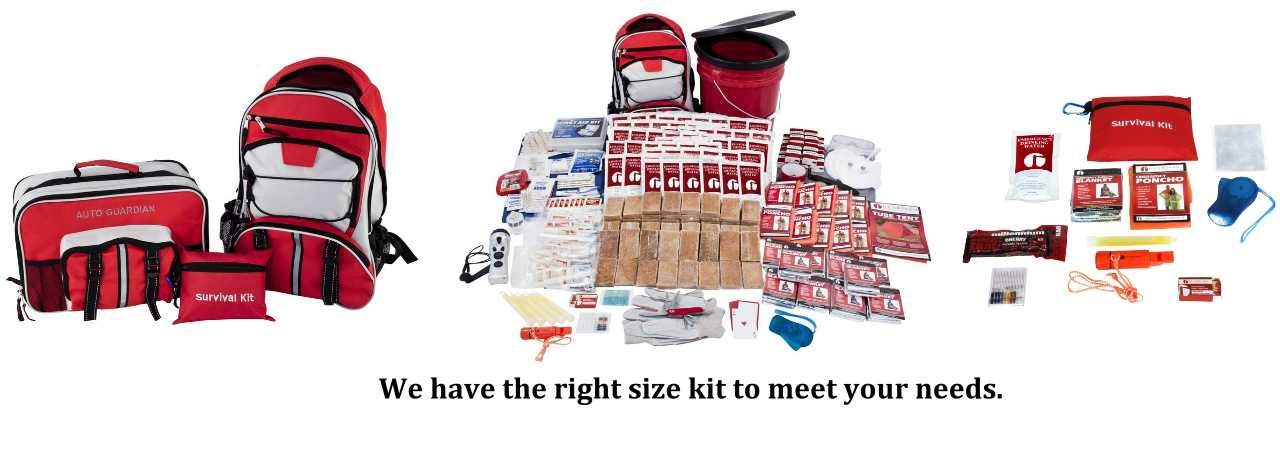 Family Survival Kits - All Sizes