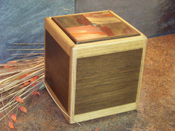 Copper Oak Walnut Cremation Sunset Urn