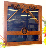 Custom Military Retirement Shadow Box