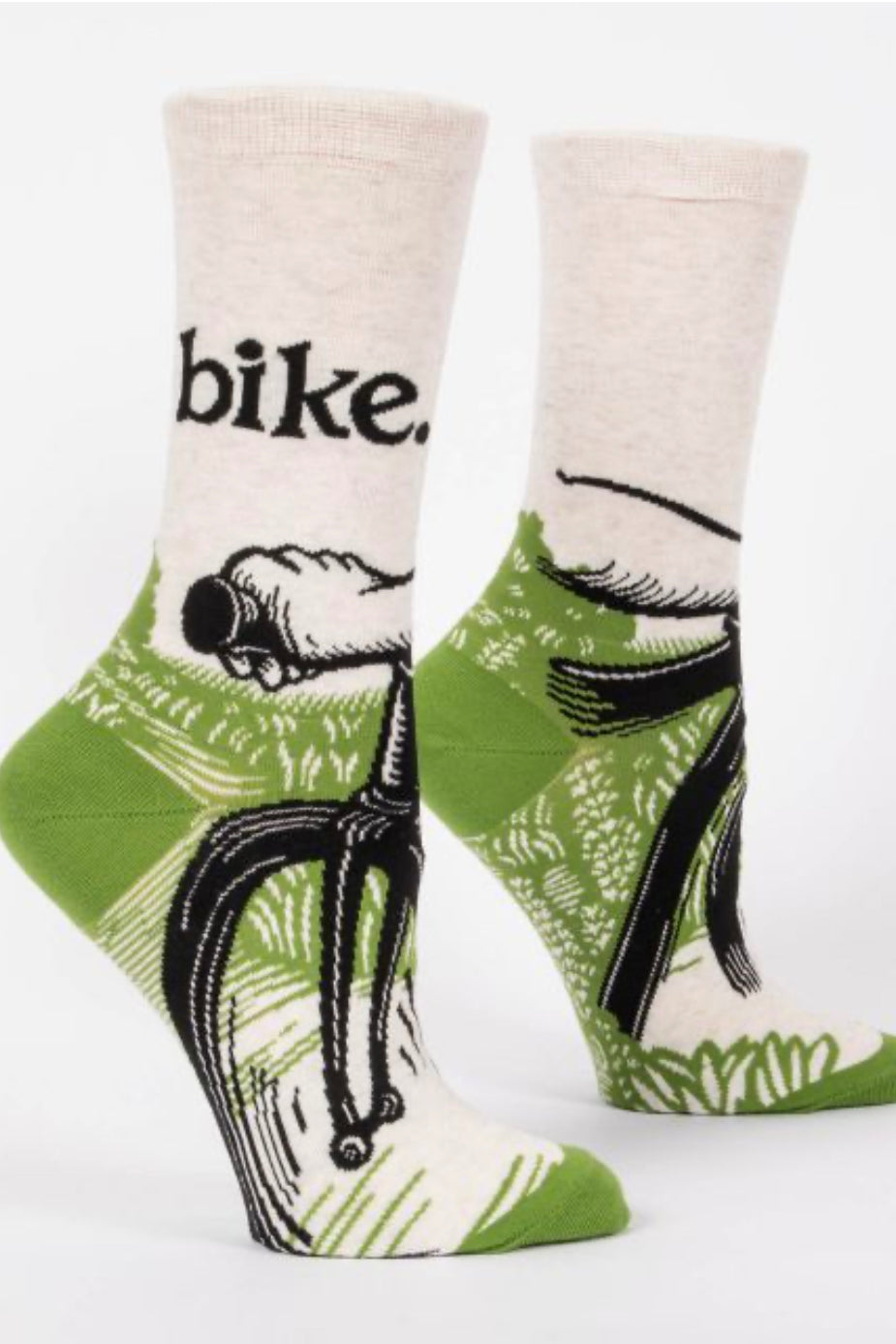 Blue Q Bike Path Crew Socks
