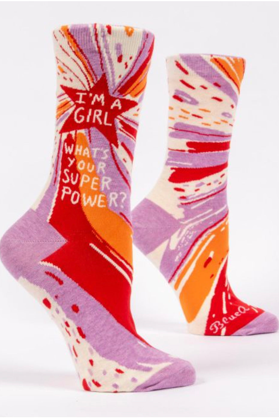 Blue Q Superpower Crew Socks