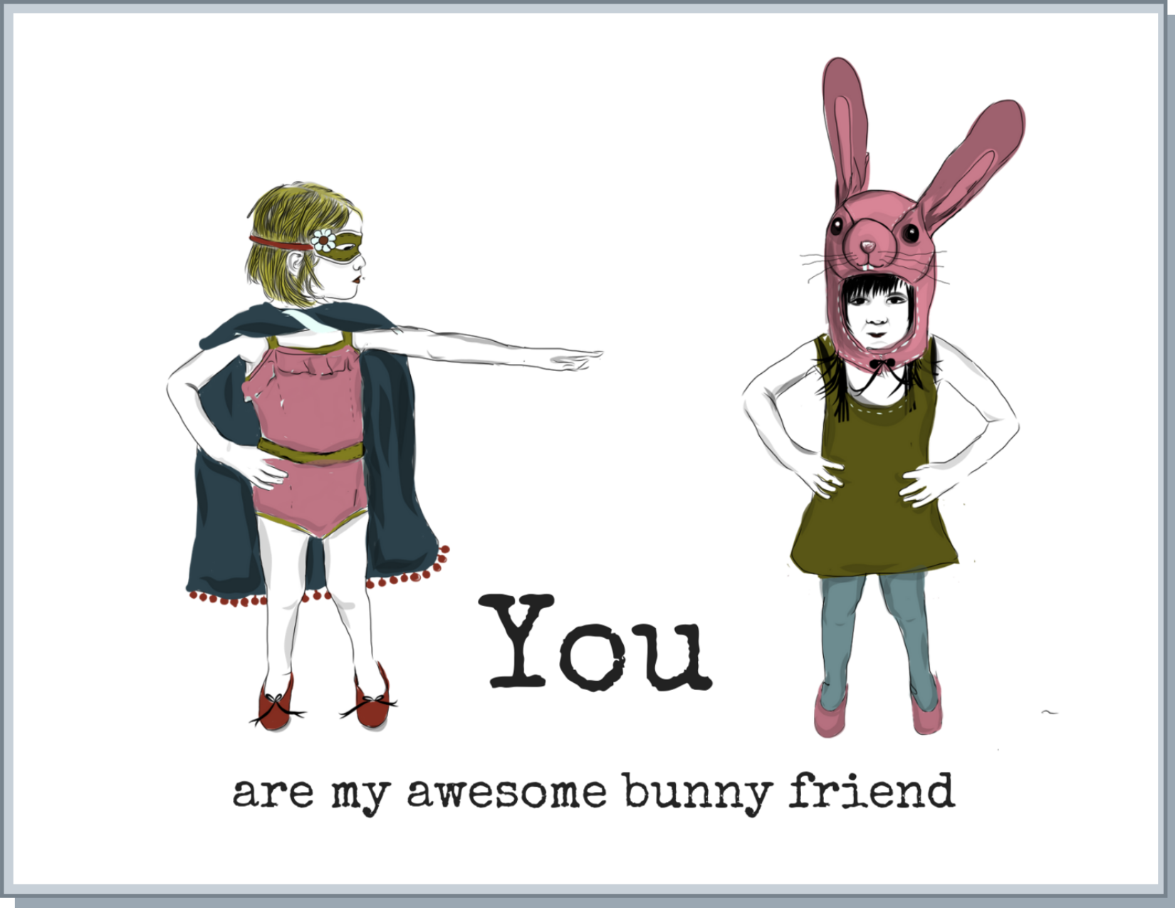 Newfolk&Cabin Bunny Friend - Greeting Card