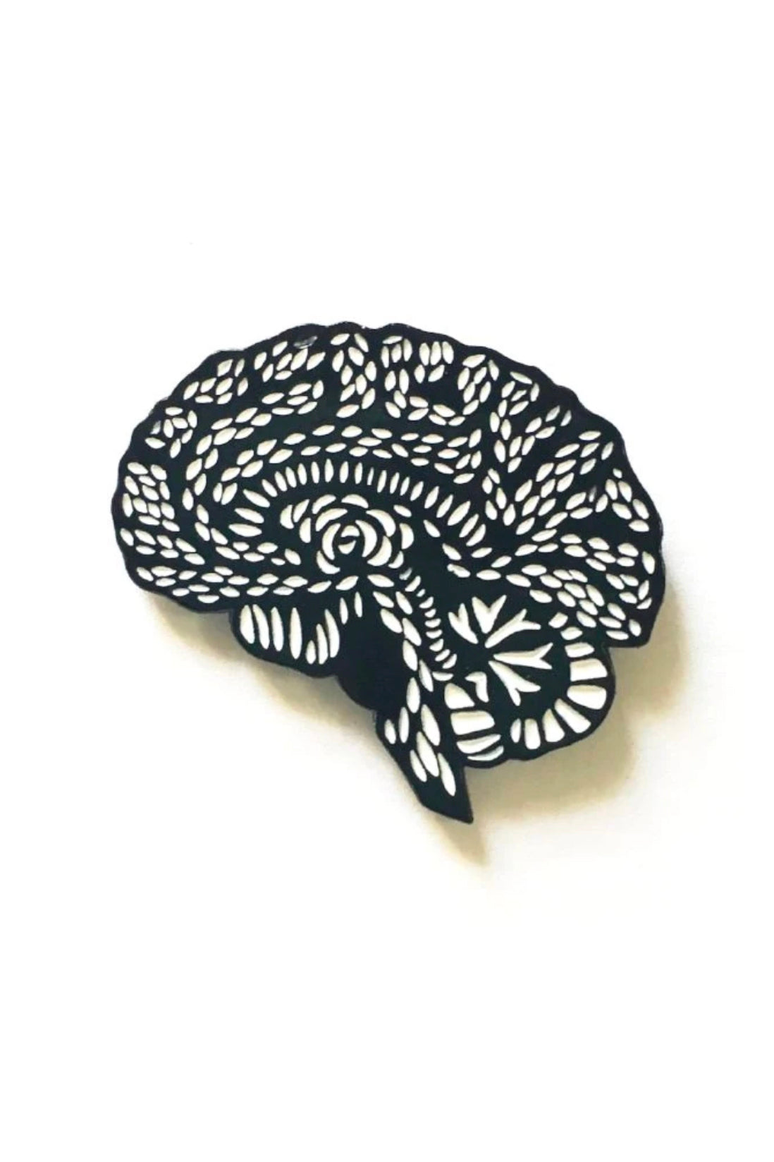 Light + Paper Enamel Pin -Brain