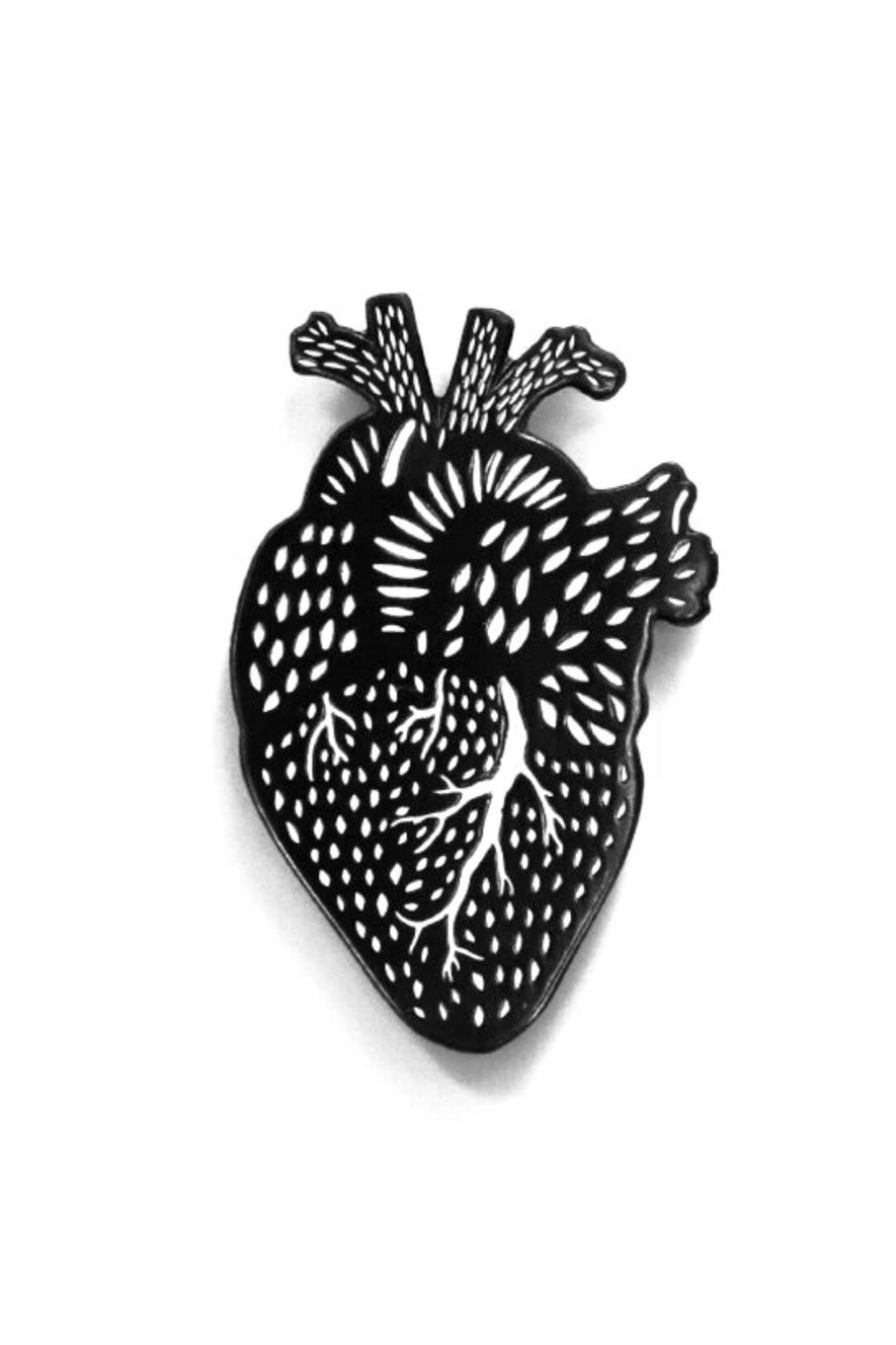 Light + Paper Enamel Pin -Heart