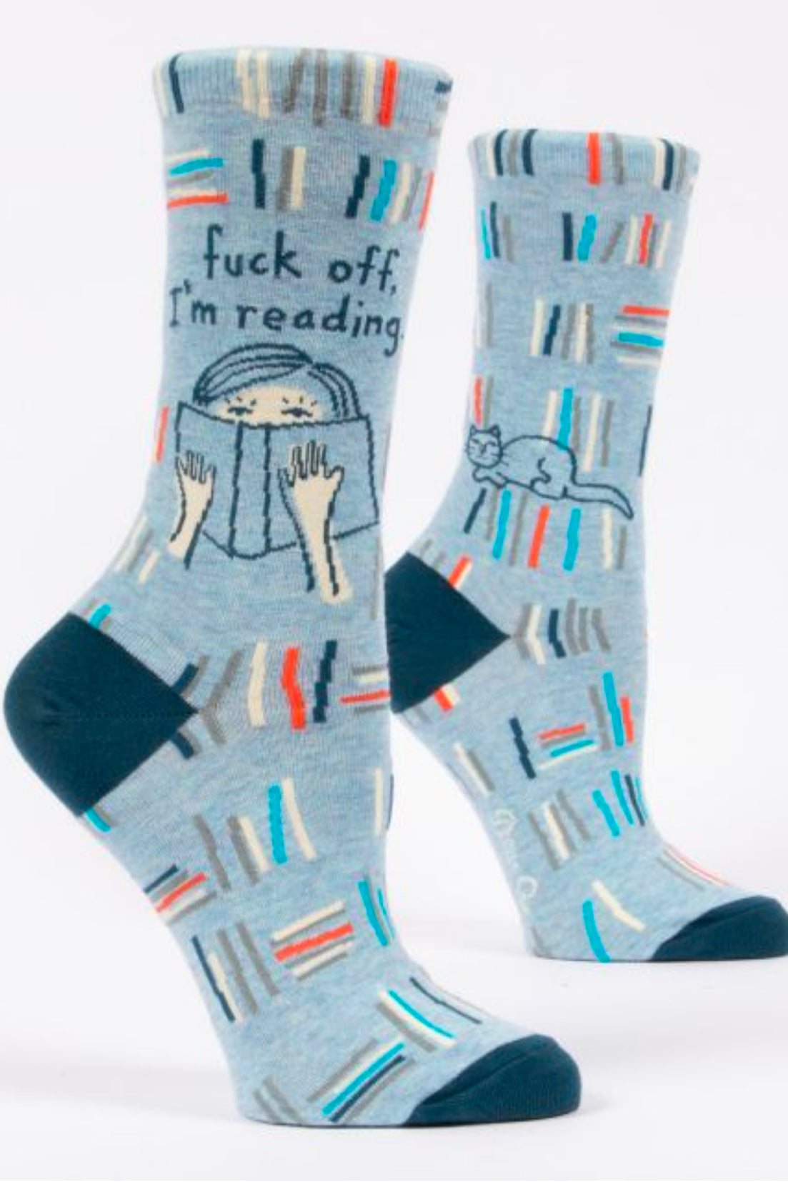 Blue Q You Fuck Off-Reading Crew Socks
