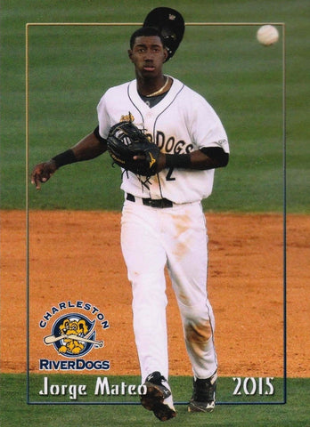 2015 CHARLESTON RIVERDOGS MiLB TEAM SET w/ JORGE MATEO - 1st TEAM SET!