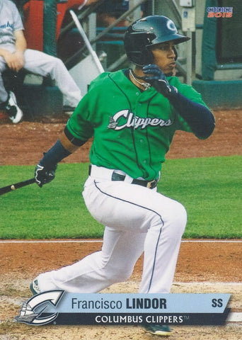 2015 COLUMBUS CLIPPERS MiLB TEAM SET w/ FRANCISCO LINDOR