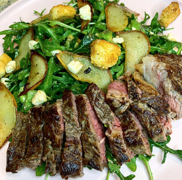 Steak & Roasted Pear Salad
