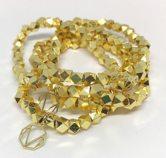 Gold Hexagon Bracelet