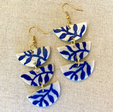 Blue Vines Earrings