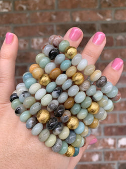 Amazonite Barrel Bracelet