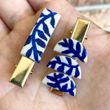 Blue Vines Barrette Set