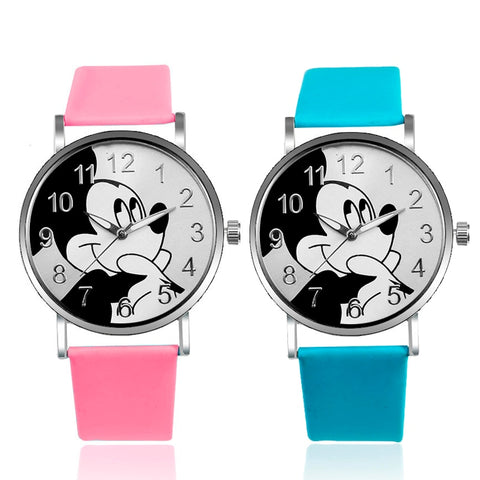 Cartoon Children Watch Minnie Mickey Kids Watches Children Watch Large Dial Quartz Wristwatches Girls Boys Clock Reloj Montre