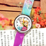 Children's cartoon watch elsa princess electronic lights source children children watch girls birthday party gift clock