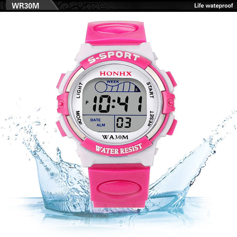 Hot Sale Waterproof Children watches girl Digital LED Sports Watch Kids Alarm Date lovely Watch Gift kids school Erkek Kol Saati