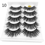 5 Pairs 3D Faux Mink Hair False Eyelashes Wispies Fluffies Drama Eyelashes Natural Long Soft Handmade Cruelty-free Black Lashes