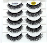 HBZGTLAD 5/18/20 Pairs 3D Soft Mink False Eyelashes Handmade Wispy Fluffy Long Lashes Natural Eye Extension Makeup Kit Cilios