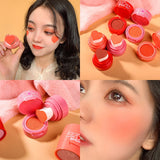 Blusher Powder Girl Heart Face Blush Mineral Pigment Palette Cream Natural Blush Contour Shadow Cosmestics TSLM1