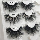 RED SIREN Mink Eyelashes 25mm Lashes Fluffy Messy 3D False Eyelashes Dramatic Long Natural Lashes Wholesale Makeup Mink Lashes