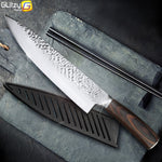 Kitchen Knife 8 inch Professional Japanese Chef Knives 7CR17 440C Stainless Steel Full Tang Meat Cleaver Slicer Santoku Set