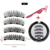 3D magnetic eyelashes With 3/4 Magnets handmade makeup Mink eyelashes extended false eyelashes Reusable false eyelashes Dropship