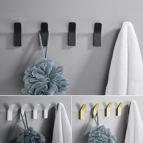 Self-adhesive clothes bag hanger hook kitchen storage towel hook for bathroom modern wall hanger hook bath accessories