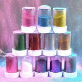 20g Glitter Powder for Lip Gloss DIY Lipgloss Base Gel Tools Lip Gloss Making Shimmer Face Glitter Makeup Use 12 Colors