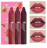 Matte Velvet Lipstick Set 3PCS Lipstick Makeup Beauty Cosmetic Non-stick Cup Non-fading Cosmetic Waterproof Make Up TSLM1