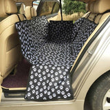 Paw Pattern Pet Carriers Oxford Fabric Car Pet Seat Covers Waterproof Back Bench Seat Travel Accessories Car Seat Covers Mat