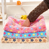 Winter Dog Blanket Cat Bed Rest Pad Foldable Pet Cushion Sleep Mat Hondenmand Coral Cashmere Sweet Dog Bed S/M